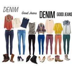 Divine Denim. by DMS member brittanyirvine, great inspiration for a variety of colored denim!