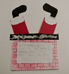 "Did this with my kids.  They loved it!  ""if Santa was stuck in your chimney"" writing prompt."
