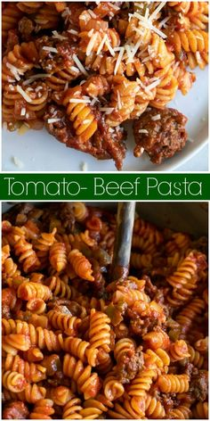 This Tomato Beef Pasta recipe is a simple, family-friendly comfort food recipe that is perfect for an easy weeknight dinner. Easy Soup Recipes, Pasta Recipes, Beef Recipes, Italian Recipes, Dinner Recipes, Cooking Recipes, Tomato Juice Recipes, Tomato Recipe, Beef Pasta