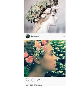 — These girls know how to wear their flowers — Beyonce vs Paradjanov — @2vartanovs. #Parajanov #Vartanov #lnstitute  #параджанов #вартанов  #sergeiparajanov #mikhailvartanov  #сергейпараджанов