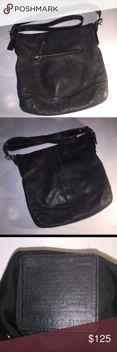 - On Hold - Authentic Leather Coach Bag In Good Condition | Used | Very lightly used |  Strap has some minor wear not noticeable and  needs stitching (can be fixed at a shoe repair store) on the inner side not visible | New strap can also be ordered separately from Coach | Matching Coach Messenger Bag Listed Separately will Bundle for a discounted price for both | Add'l 📸 upon request | 🚫 No Trade | 🚦Bundles and Offers Welcomed 🚦 Coach Bags Satchels