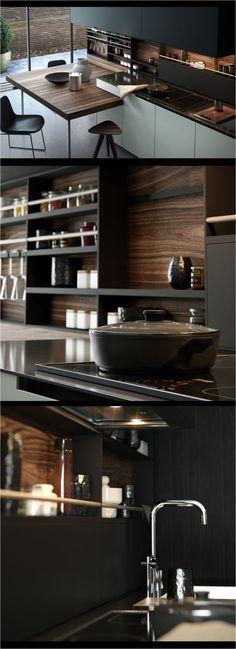 20 Trendy Kitchen Design Dark Cabinets Modern Back Splashes Interior Design Kitchen, Modern Interior, Interior Architecture, Modern Decor, Küchen Design, Design Case, House Design, Design Ideas, Modern Design