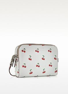 f9e501891a80 Marc by Marc Jacobs Fruit The Double Off White Cherry Print Leather  Crossbody