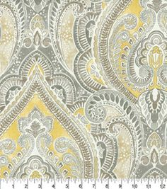 A premium Home Décor Fabric collection by Kelly Ripa. Create lovely fabric-based projects with this medium weight Home Decor Fabric . Featuring a beautiful pattern in elegant tones, this fabric will e