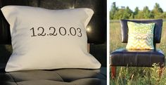 Personalized Pillow Covers 20 Fabric Choices!