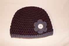 Crochet Newborn Dark Purple Hat with Medium by SweetBlessings28, $7.00