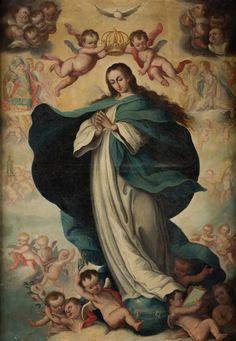 ESCUELA SEVILLANA, PRIMERA MITAD SIGLO XVIII Inmaculada