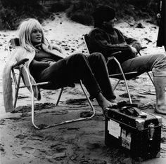 Bardot. At the beach. Taking a break.