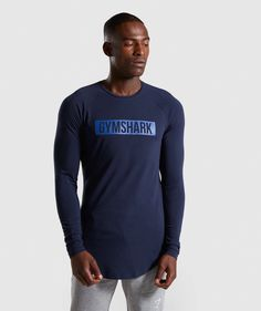 Medium New Men/'s Gymshark Block SS Short Sleeve T-shirt  Long Lined