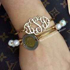 A Monogram and a couple Bourbon and Boweties bracelets
