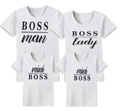 Boss Family Matching T- Shirt Matching Family T Shirts, Family Shirts, Matching Outfits, Mommy And Me Dresses, Mom Dress, Pregnant Halloween Costumes, Look T Shirt, T Shorts, Maternity Costumes