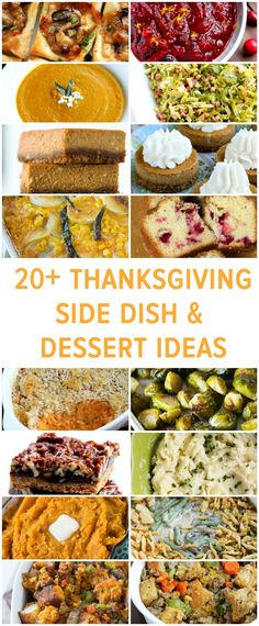 20+ Thanksgiving Side Dish and Dessert Ideas by @Julie Forrest {Table for Two}