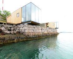 Stinessen Arkitektur designed the Manshausen Island Resort cabins that boast stunning panoramic views with a minimal environmental footprint. Sweet Home, Island Resort, Little Houses, Small Houses, Nice Houses, Garden Boxes, The Ranch, Architecture Details, Wood Architecture