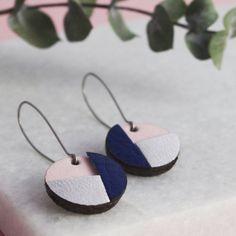 Boucles d'Oreilles pour Femme- Boucles d'oreilles Maissa- Cadeau parfait- Bijoux en Cuir