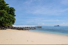 A photo of the beach and Private Jetty at Cape Panwa Hotel - photo courtesy of Instagram and mameawempty