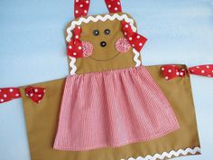 Apron Sewing Pattern for Children - Gingerbread Girl, Snowman and Plain Knot Apron -