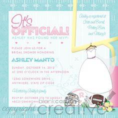 football themed bridal shower
