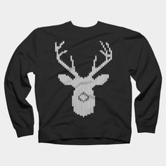 White Tail Deer Buck In Knit Style Crewneck By Garaga Design By Humans