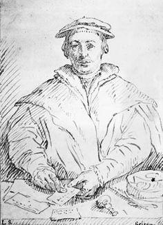 Hans Holbein den Ældre (kopi efter), Portræt af købmanden Deryck Tybis (Statens Museum for Kunst, København).
