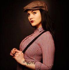 omfg cute girl AND suspenders