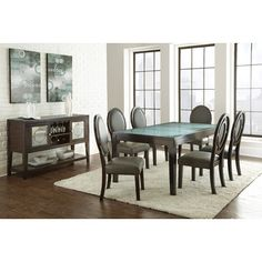 Such a cool contemporary dining set! It makes fine dining look even more fashionable.
