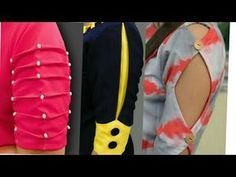40+ sleeve designs for girls#suit#kurta#kurti - YouTube Sari Blouse Designs, Salwar Designs, Kurti Neck Designs, Kurta Designs Women, Chudi Neck Designs, Blouse Neck Designs, Hand Designs, Kurti Sleeves Design, Sleeves Designs For Dresses