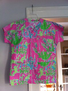 Scrubs Top made with Lilly Pulitzer Fabric by wamozart12 on Etsy, $34.00 (fabulous seller, if I may add!)