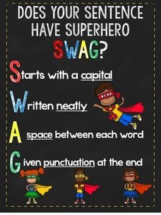 Does your sentence have swag poster - great for writing center!