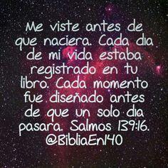 Salmo 139:16 NTV