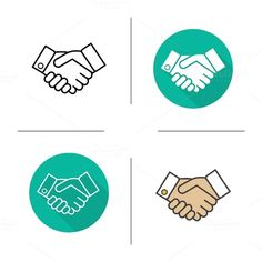 Handshake icons. Vector @creativework247