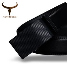 COWATHER Mens belt luxury high quality cow genuine leather belts for men automatic buckle fashion waist male Fashion Belts, Fashion Accessories, Mens Fashion, Leather Belts, Cow Leather, Belted Cow, Suit Up, Designer Belts, Wallets For Women