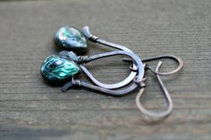 Abalone Shell Arch earrings I  by Tribalis on Etsy, $23.00