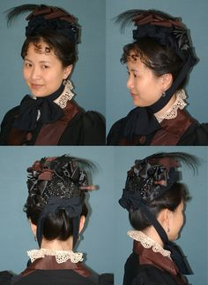 Pattern for Late Victorian Small Bonnet