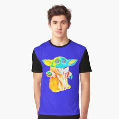 'Hug me - I am young in Galaxy' Graphic T-Shirt by StefaniaAlina Hug Me, My T Shirt, Bold Colors, Thats Not My, Shirt Designs, Printed, Awesome, Sleeves, Mens Tops