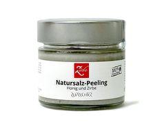 150 g Zirbe und Honig Natursalz-Peeling ist ein hautverfeinerndes Peeling mit natürlichen Peeling-Körpern aus Zirben-Mehl... Coconut Oil, Salt, Products, Organic Beauty, Minerals, Salts, Gadget