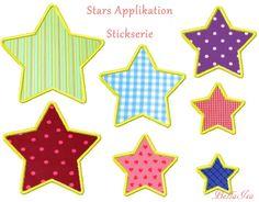 Applikationen - Star Apllikation 10x10 Stickdatei - ein Designerstück von -BellaIsa- bei DaWanda