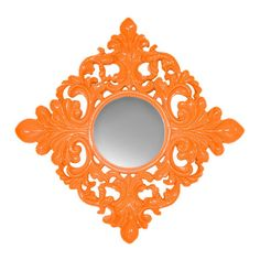 Orange Wall Mirror.