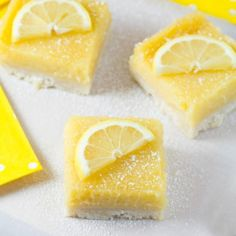 Lovely Lemon Pie Bars | This lemon bar recipe is so creamy and has such a wonderful and bright flavor!
