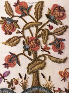 Wonderful Ribbon Embroidery Flowers by Hand Ideas. Enchanting Ribbon Embroidery Flowers by Hand Ideas. Bordado Jacobean, Crewel Embroidery Kits, Embroidery Needles, Silk Ribbon Embroidery, Vintage Embroidery, Embroidery Digitizing, Embroidery Tattoo, Embroidery Dress, Embroidery Designs