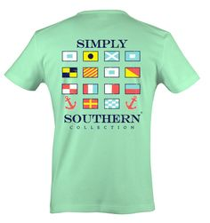 Simply Southern Short Sleeve Mint Green T-Shirt - Black Friday Flag – Pretendtimetoys Simply Southern Shirts, Preppy Southern, Mint Shorts, Cozy Fashion, Printed Tees, Clothes For Women, Mens Tops, T Shirt, How To Wear