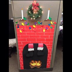 Christmas Cubical decor :))