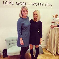 Caroline Stanbury.. with and wearing Tabitha Webb dress..