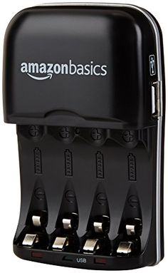 AmazonBasics Ni-MH AA & AAA Battery Charger With USB Port ** READ REVIEW @ http://www.gelfiltration.com/store/amazonbasics-ni-mh-aa-aaa-battery-charger-with-usb-port/?b=5742