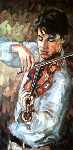 Violin 16 38x76cm 2012 Music Painting, Art Music, Violin Art, Russian Painting, Photo D Art, Painting People, Oeuvre D'art, Fine Art Photography, Watercolor Art