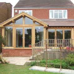 The Design Centre Green Oak Frame Kitchen Extension Flat Pack Extensions, Oak Framed Extensions, Bungalow Extensions, Garden Room Extensions, House Extensions, Kitchen Extensions, House Extension Cost, Extension Costs, Rear Extension