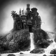 Portland-based designer Jim Kazanjian sifts through thousands of found photographs and digitally pieces approximately 30 of them together to produce his impeccably manipulated surreal landscapes, without ever physically operating a camera himself.