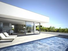 Architectural Rendering, Architectural rendering of a luxury house in Cap Martinet, Ibiza
