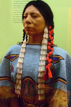 Ceremonial Dress of a Dakota Woman of the 19th century by mharrsch, via Flickr