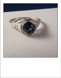 Antique+Art+Deco+18k++Sapphire+Filigree+by+BellaJewelryShop,+$339.00
