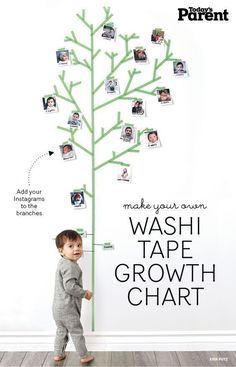 Do you know about washi tape? It's a fun tape that adheres well without damaging walls. Available in an array of fun colours and patterns, read on to try one (or all) or our fun washi-inspired crafts. Washi Tape Uses, Washi Tape Wall, Washi Tape Crafts, Masking Tape, Duct Tape, Tape Wall Art, Tape Art, Room Deco, Deco Kids